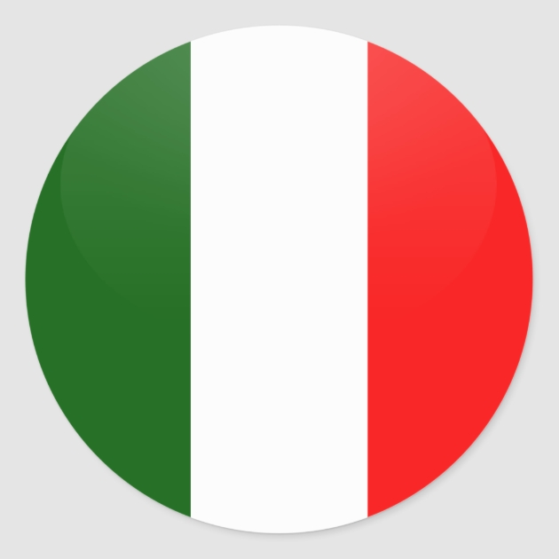 Italy quality Flag Circle Classic Round Sticker Zazzle - Circle Wall Stickers